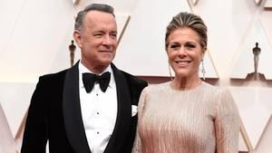 Tom Hanks und Rita Wilson kommen zur Oscar-Verleihung im Dolby Theatre. Das Paar ist mit dem Coronavirus infiziert.