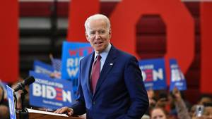 Der US-Demokrat Joe Biden bei einer Wahlkampfveranstaltung
