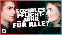 DISKUTHEK: Soziales Pflichtjahr für alle? Pfleger Alexander Jorde und Politikerin Ria Schröder streiten