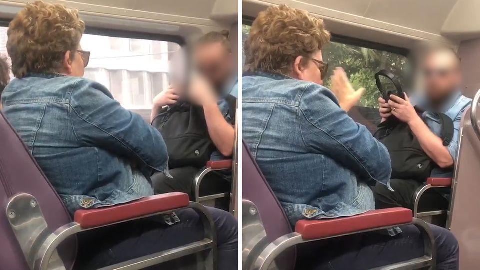 Coronavirus: Virales Video – Frau hustet Mann im Zug in Australien an
