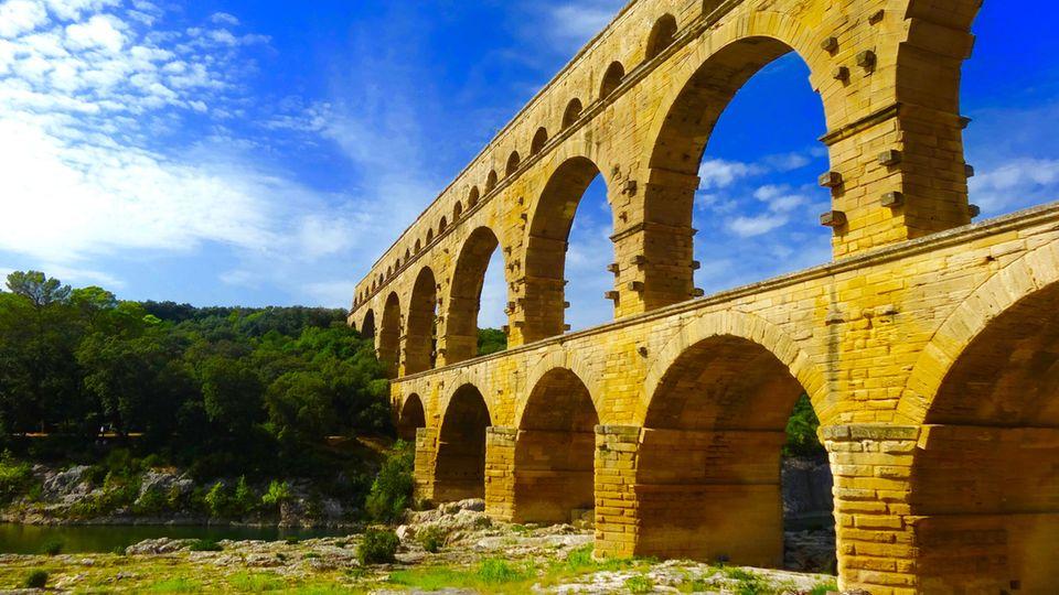 Der Pont du Gard war Teil einer etwa 50 km langen Wasserleitung.