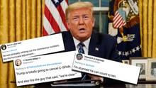 Donald Trump redet über Maßnahmen gegen die Coronavirus-Krise in den USA