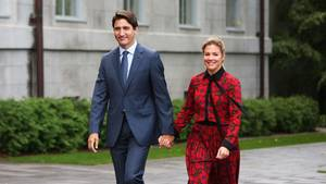 Kanadas Premierminister Justin Trudeau und seine Frau Sophie Grégoire Trudeau