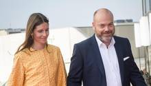 Anders Holch Povlsen und seine Frau Anne bei der Feier zum 50. Geburtstag von Kronprinz Frederik in Kopenhagen