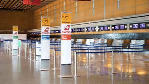 Ein leerer Flughafen