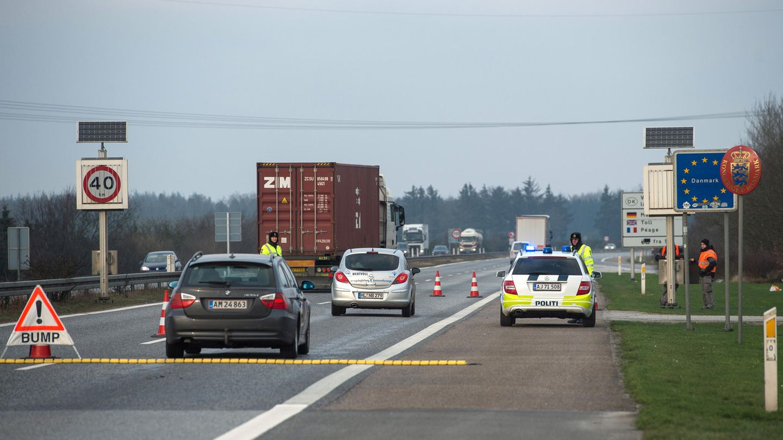 Der dänisch-deutsche Grenzübergang bei Ellund