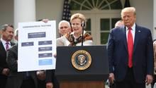 Coronavirus: US-Präsident Donald Trump und Beauftragte für die Corona-Bekämpfung Debbie Birx