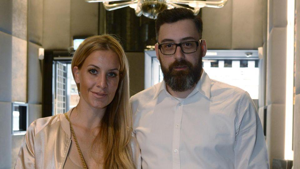 Charlotte Würdig und Sido bei einer Veranstaltung in Frankfurt