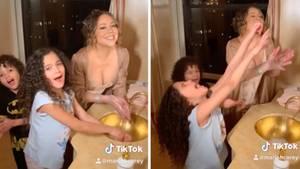 Mariah Carey und ihre Kinder rappen beim Händewaschen