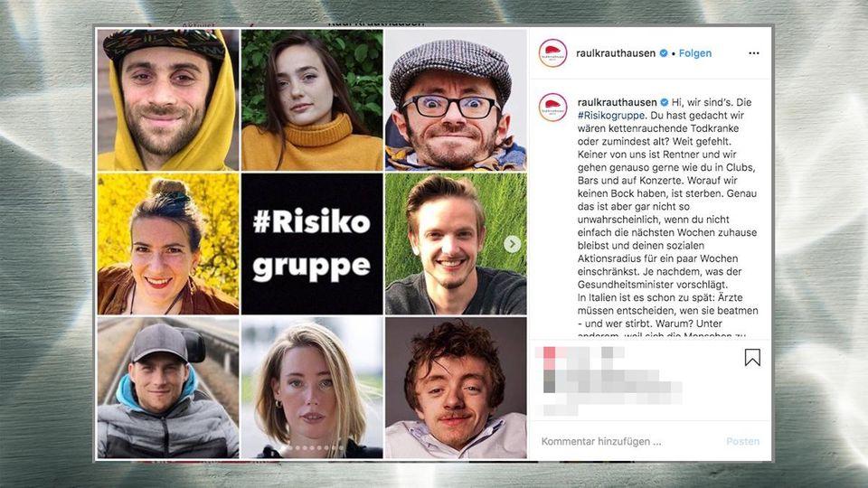 Aktivist Raul Krauthausen teilt auf Instagram Bilder von Menschen, die Teil der Corona-Risikogruppe sind
