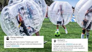 Twitter-User kommentieren die Verschiebung der EM auf 2021