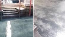 Kanäle Venedig mit klarem Wasser