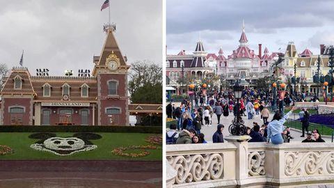 Disneyland hat wegen der Corona-Krise kaum Besucher.