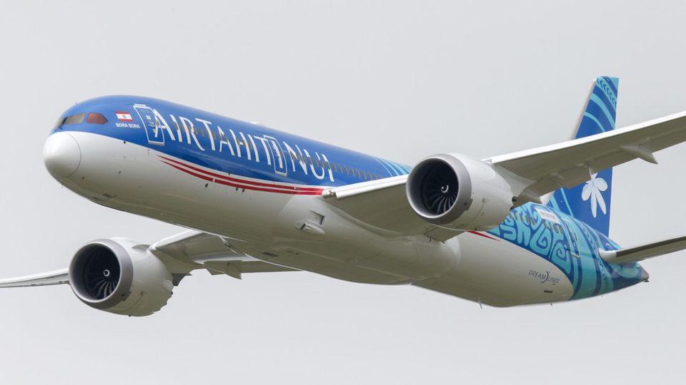 15.713 Kilometer nonstop: Eine Boeing 787-9 von Air Tahiti Nui legte die Strecke zwischen Papeete und Paris in 16 Stunden und 14 Minuten zurück.