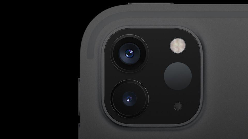 """Der """"Lidar""""-Sensor in der Kamera des neuen iPad Prosoll für eine bessere Erkennung bei AR-Anwendungen sorgen"""