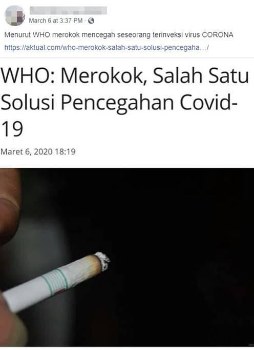corona fakes - rauchen