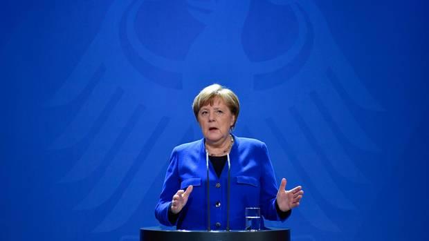 Bundeskanzlerin Angela Merkel äußert sich in einer Fernsehansprache zur Coronavirus-Krise