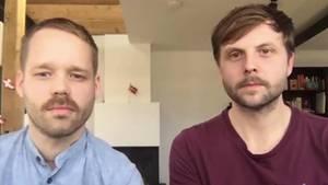 Friseur-Unternehmer Michael Ahlmayer und Steve Bonde