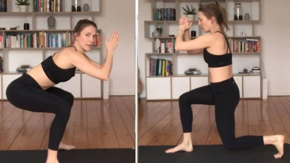 Freya zeigt, mit welchen Fitnessübungen man sich zu Hause fit hält