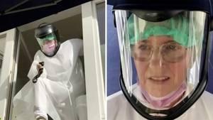 Coronavirus: Marie Opdensteinen testet Kranke auf das Virus.