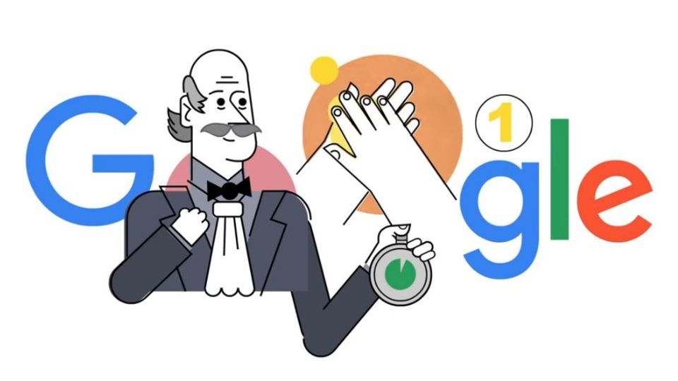 Google Doodle für Ignaz Semmelweis
