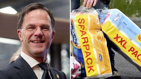 """Mark Rutte zu Kolpapier-Hamsterkäufen: """"Wir haben so viel, wir können zehn Jahre kacken."""""""