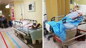 Ein Video soll das Krankenhaus Policlinico San Marco in der Provinz Bergamo zeigen.