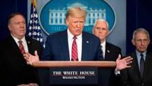 US-Präsident Donald Trump bei einer Pressekonferenz im Weißen Haus