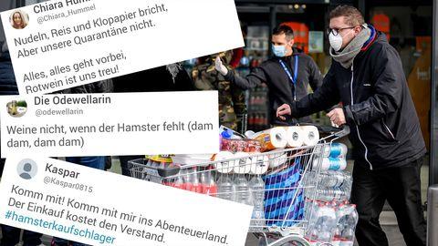 Twitter-User sammeln unter #Hamsterkäufeschlager witzige Songs zu Hamsterkäufen