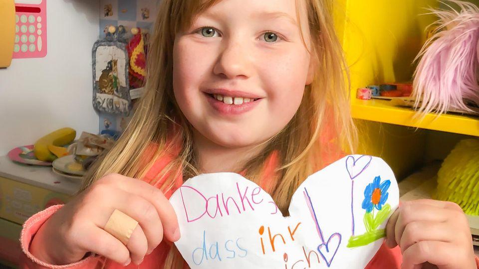 Isabelle hat ein Herz gemalt