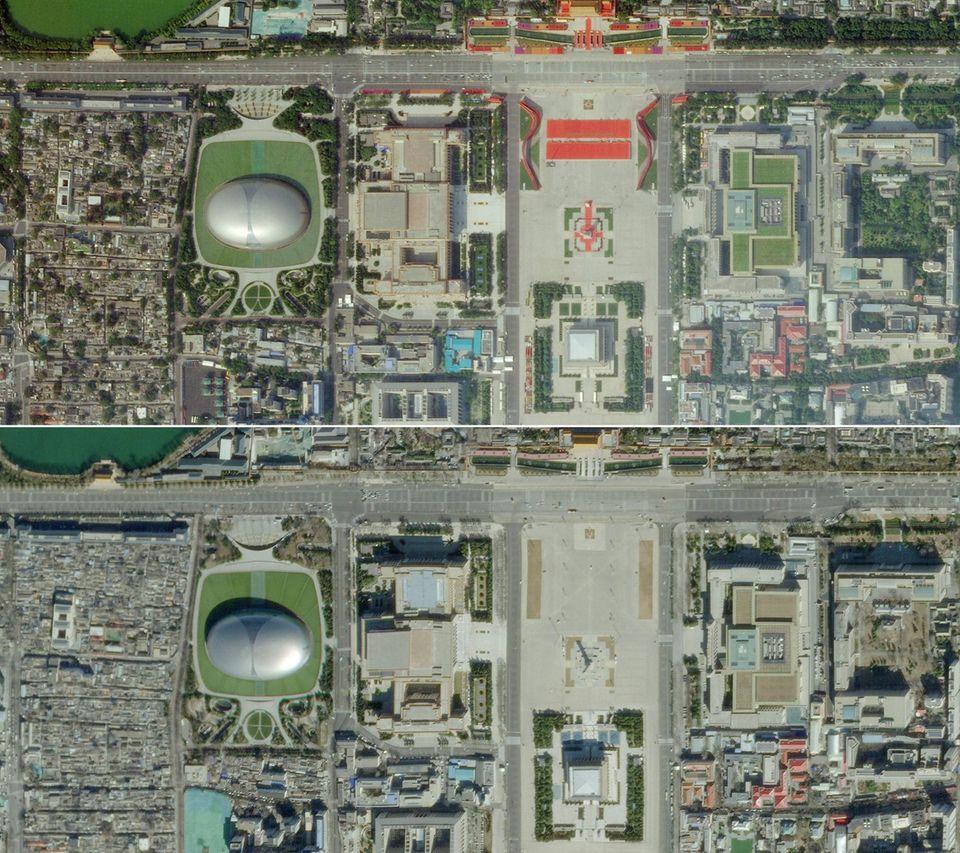 Tian'anmen-Platz von oben