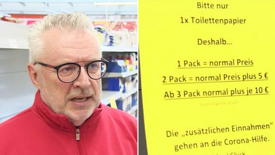 Supermarkt in Rheinland-Pfalz: Hier ist Klopapier hamstern richtig teuer: Marktleiter geht mit cleverem Trick gegen Angstkäufer vor