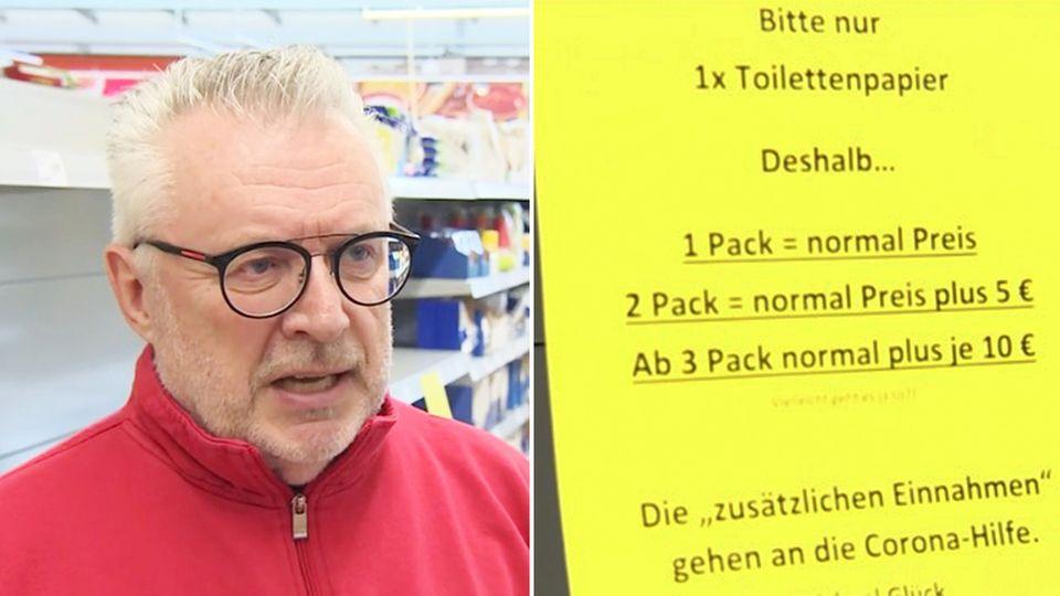 Hamsterkäufe: Rentnerin schlägt Supermarkt-Wachmann wegen Toilettenpapier