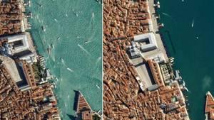 Venedig und der Markusplatz von oben