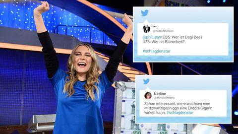 """""""Schlag den Star""""-Reaktionen auf Twitter: """"Ü35: Wer ist Dagi Bee? U35: Wer ist Blümchen?"""""""