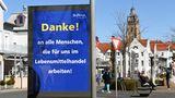 Mit Dankesworten auf Werbetafeln im gesamten Stadtgebiet wendet sich die Stadt Bad Wildungen an die vielen Menschen, die in der Krise helfen.
