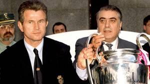 Trainer Jupp Heynckes und Lorenzo Sanz als Präsident gewannen 1998 die Champions League mit Real Madrid