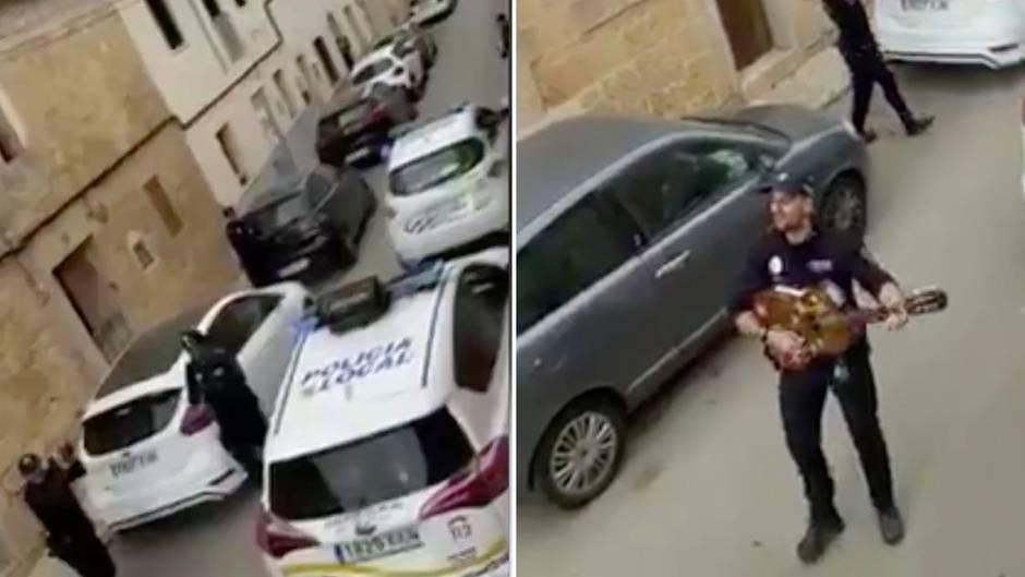 Coronavirus-Krise auf Mallorca: Herzerwärmende Aktion: Polizisten fahren durch Ort und singen Lieder für Kinder in der Isolation