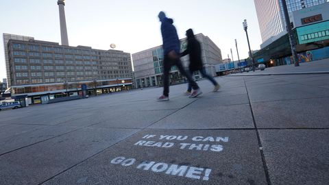 Spaziergänger in Berlin