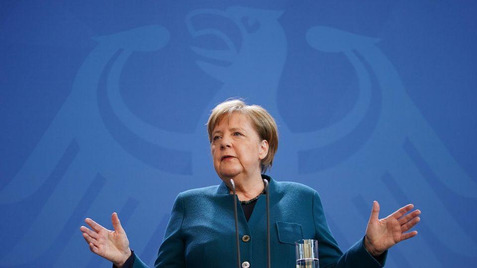 Neue Corona-Maßnahmen: Angela Merkel bei der Pressekonferenz