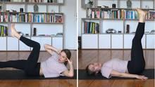 Fitness-Tipps fürs Home-Office: Bauch- und Rückenübungen.