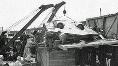 So wurde die Maschine in die USA transportiert.
