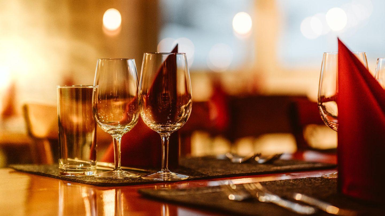Ein festlicher Tisch im Restaurant