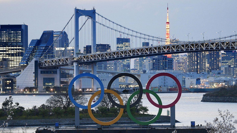 Olympia: Die Ringe der Olympischen Spiele stehen im Hafenviertel Daiba in Tokio