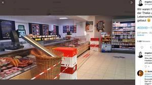 Coronavirus: Supermarkt-Mitarbeiter bauen Lebensmittelrutsche
