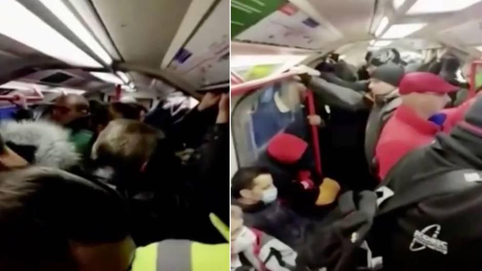 Leere Straßen in London – doch in der U-Bahn drängen sich die Menschen aneinander