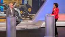 """ÖkonomGabriel Felbermayr im Gespräch mit Gastgeberin Sandra Maischberger bei """"Maischberger. Die Woche"""""""