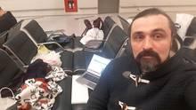 Anton Scherbyna auf dem Moskauer Flughafen Wnukuwo