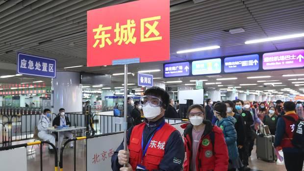 Rund 800 Menschen kehren aus der Provinz Hubei nach Peking zurück.