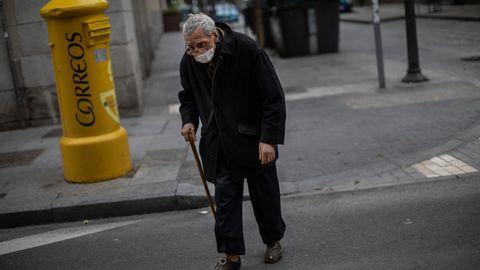 Alter Mann in Spanien